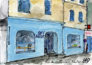 aquarelle nantes cafe becot
