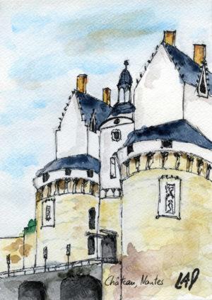 aquarelle nantes chateau