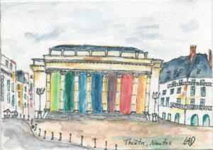 Aquarelle Théâtre Graslin à Nantes